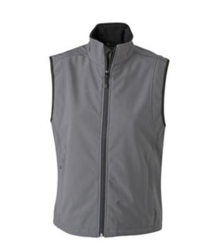 Damen Softshell Weste - carbon