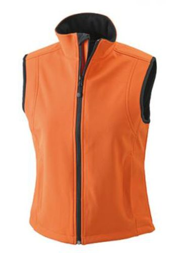 Damen Softshell Weste - orange