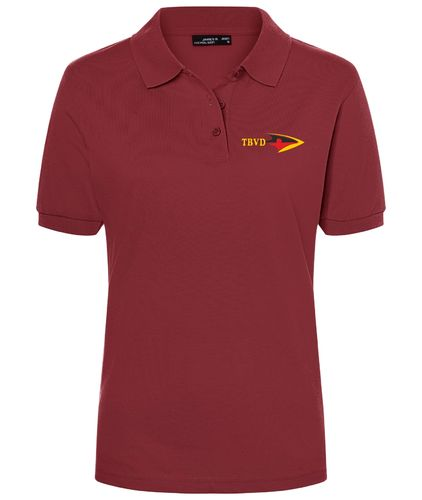 Damen Polo-Shirt - Weinrot