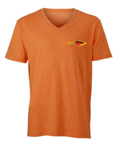 Herren T-Shirt meliert - Orange