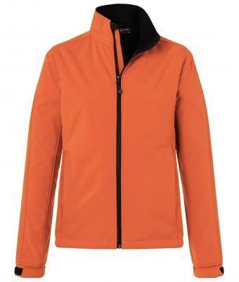 Damen Softshell Jacke - orange