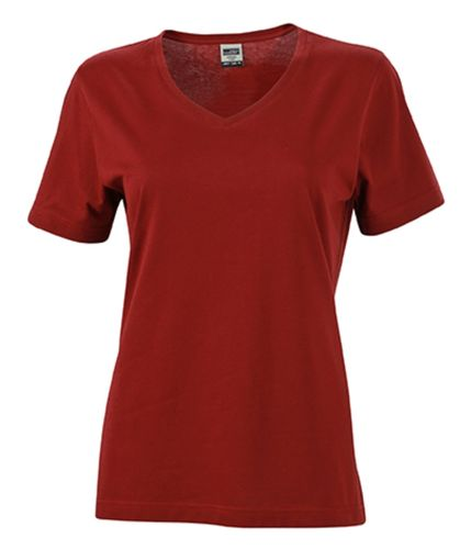 Damen Workwear T-Shirt - weinrot