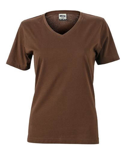 Damen Workwear T-Shirt - braun