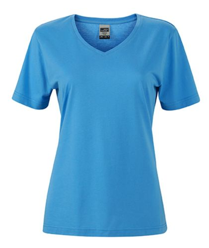 Damen Workwear T-Shirt - hellblau