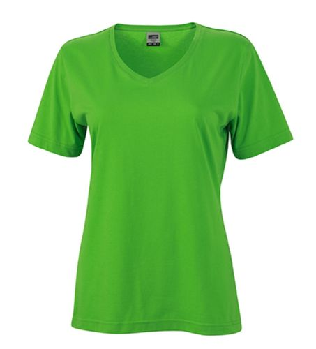 Damen Workwear T-Shirt - limonengrün