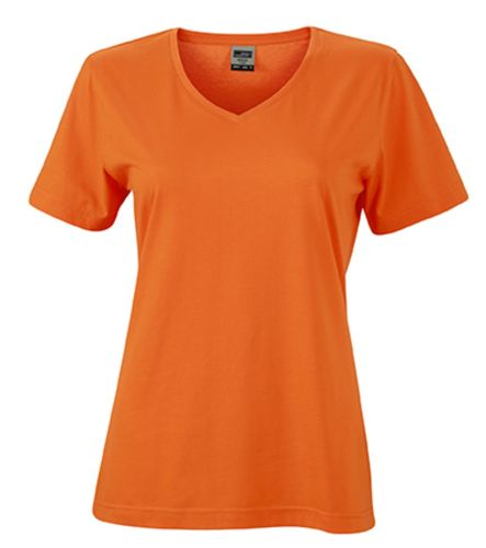 Damen Workwear T-Shirt - orange