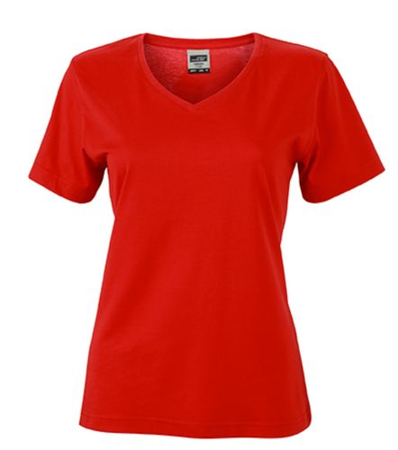 Damen Workwear T-Shirt - rot