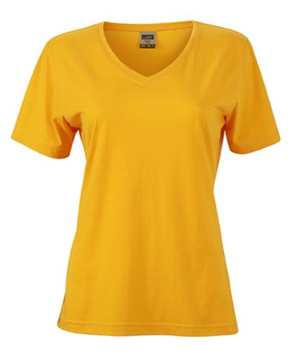 Damen Workwear T-Shirt - gelb