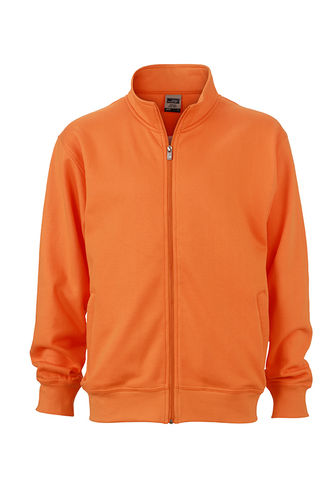 Unisex Workwear Sweat Jacke - orange