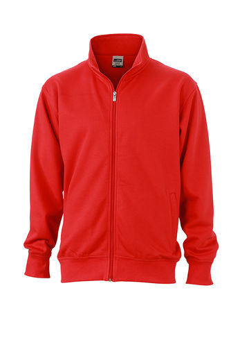 Unisex Workwear Sweat Jacke - rot