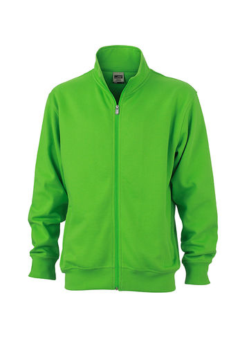 Unisex Workwear Sweat Jacke - limonengrün