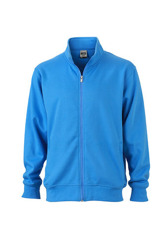Unisex Workwear Sweat Jacke - blau