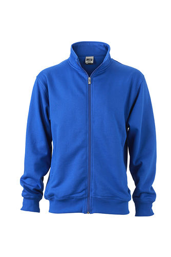 Unisex Workwear Sweat Jacke - royalblau