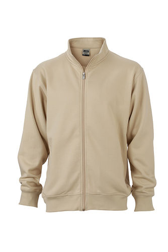 Unisex Workwear Sweat Jacke - sand